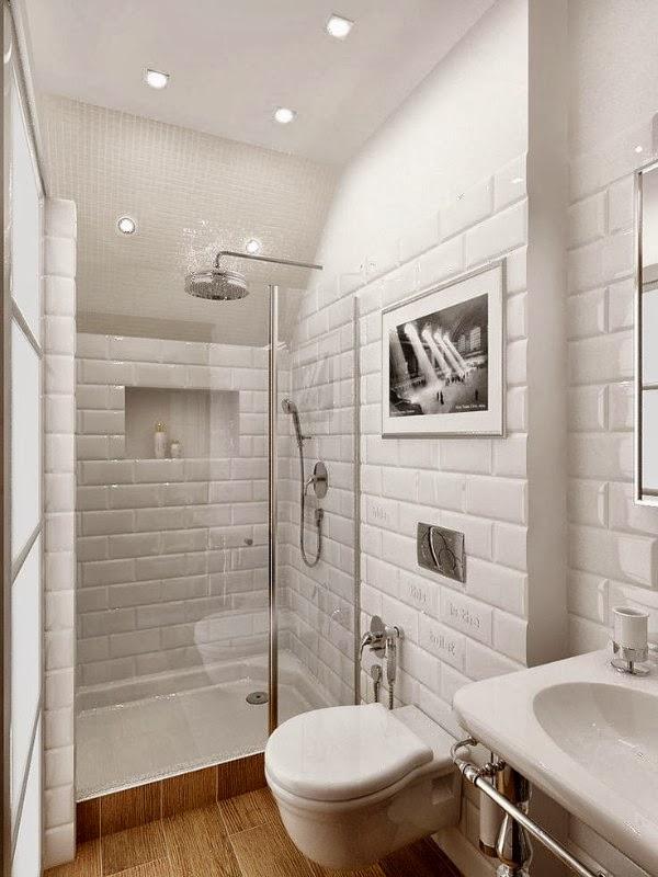 Ideas Para Decorar Baños Con Azulejos:dispuesto de forma horizontal como una especie de ladrillos