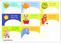 Labels for books- Kids School - Pipo