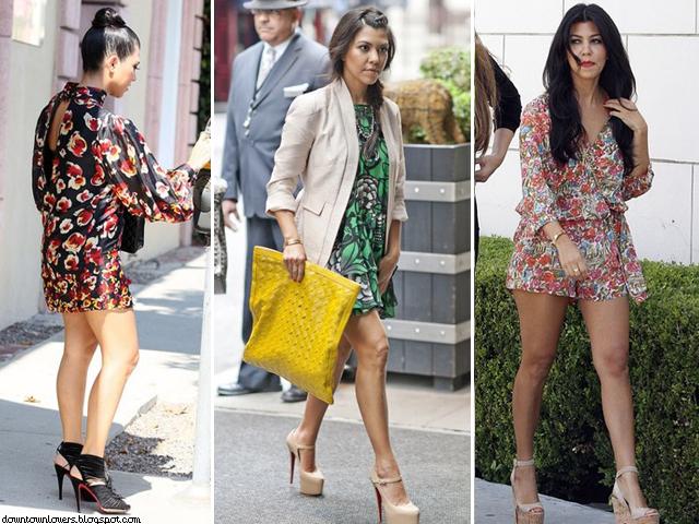 Estilo Kourtney Kardashian, Kourtney Kardashian, Kourtney Kardashian padrões, Kourtney Kardashian floral, Kourtney Kardashian jumpsuit, Kourtney Kardashian macacão, Kourtney Kardashian salto alto