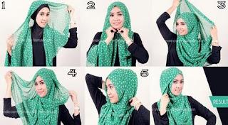 Toturial JIlbab Segi Empat Simple