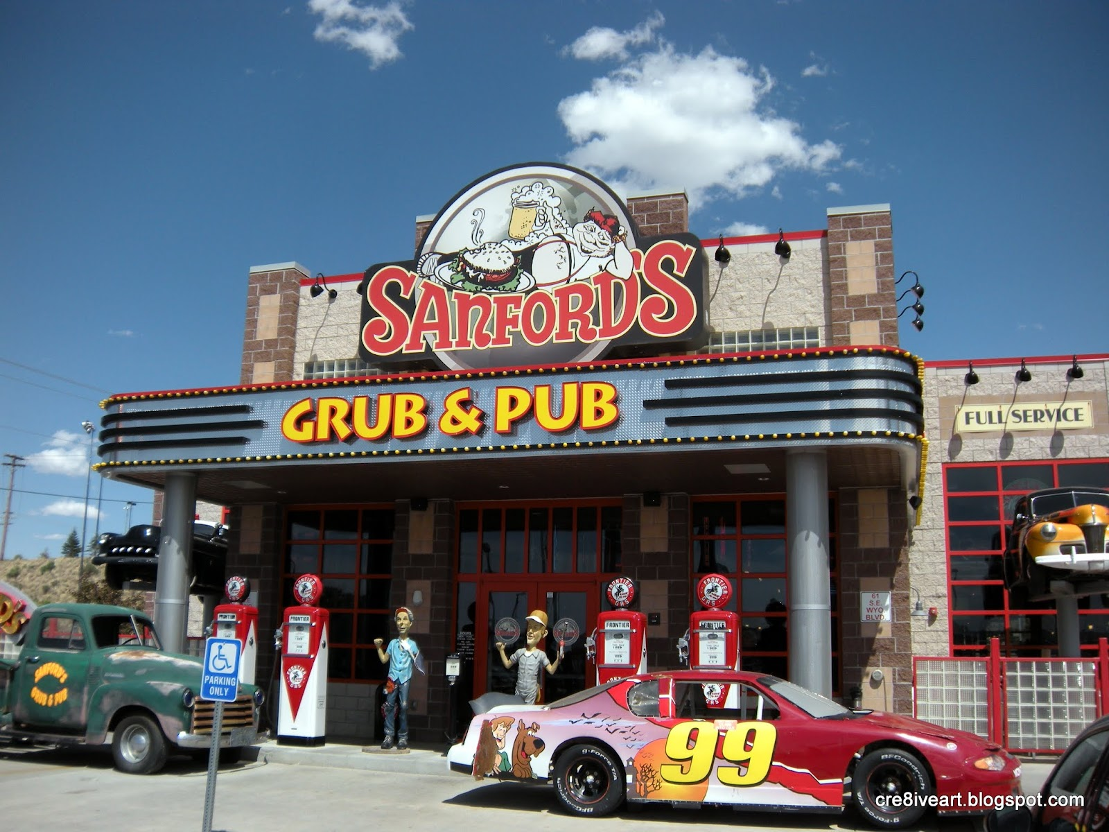 Cre8iveart 2012 06 15 sanford 39 s grub and pub casper wy for Best places to eat in jackson wy