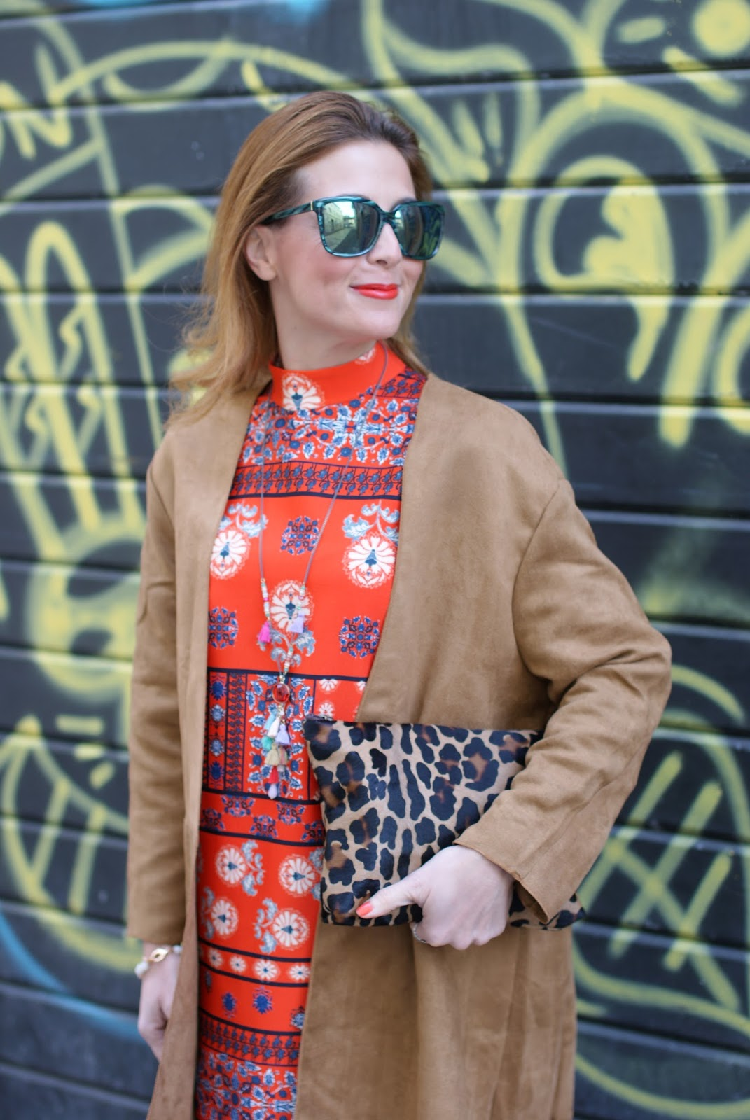 Suedette fringed coat from Yoins and Hype Glass sunglasses on Fashion and Cookies fashion blog, fashion blogger style