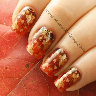 Thanksgiving Needle Drag Nail Art