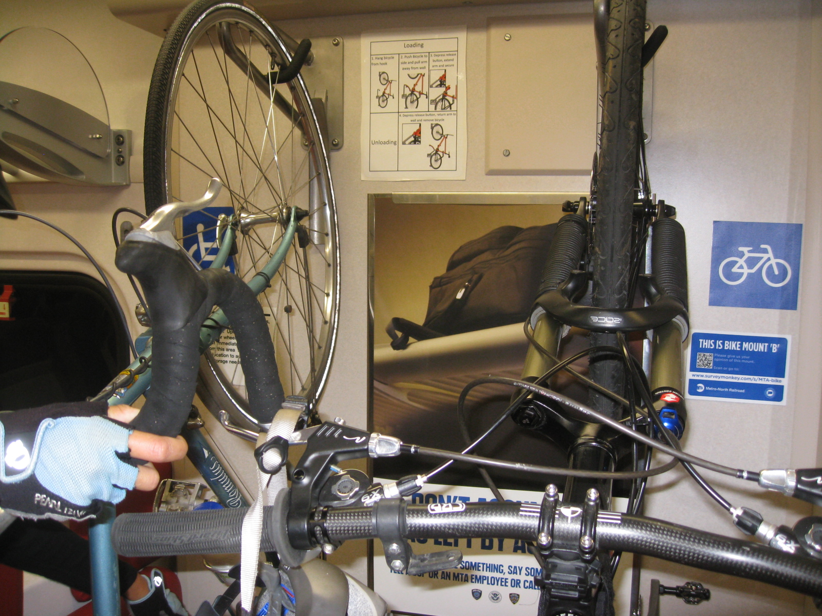 Bikes On Metro North Cyclist s Bike was there