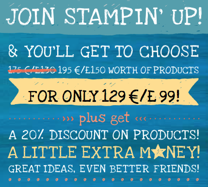 Special offer join Stampin' Up with crafting clare and get £150 worth of products in your starter kit for only £99