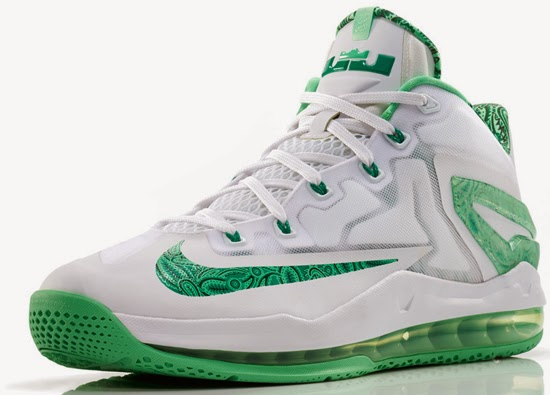 lebron 11 low green and white - photo #2