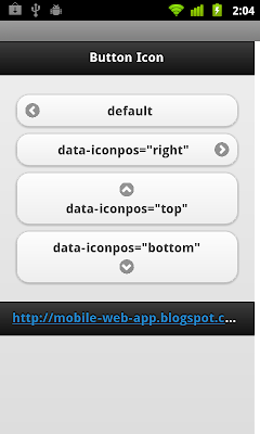 jQuery Mobile: icon position
