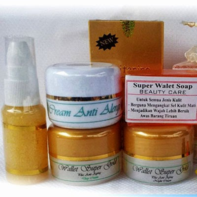 Cream Walet Gold dan Serum Gold