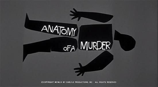 Anatomía de un asesinato - Saul Bass