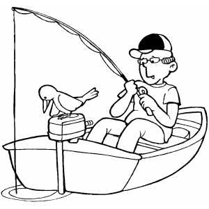 Men Fishing Coloring Page