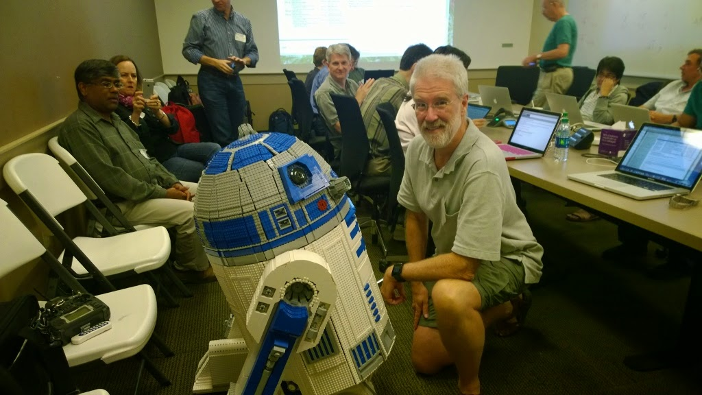 Lego R2D2 at Unicode Technical Committee meeting