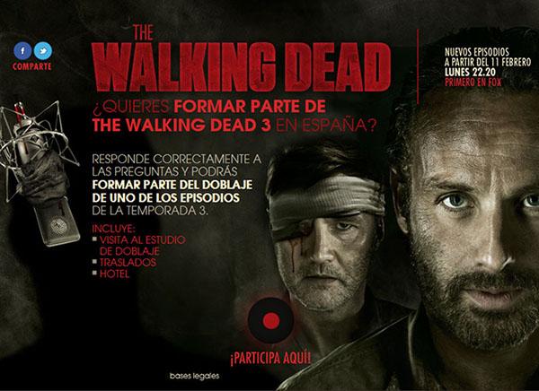 Participa en el doblaje The Walking Dead 3 en España