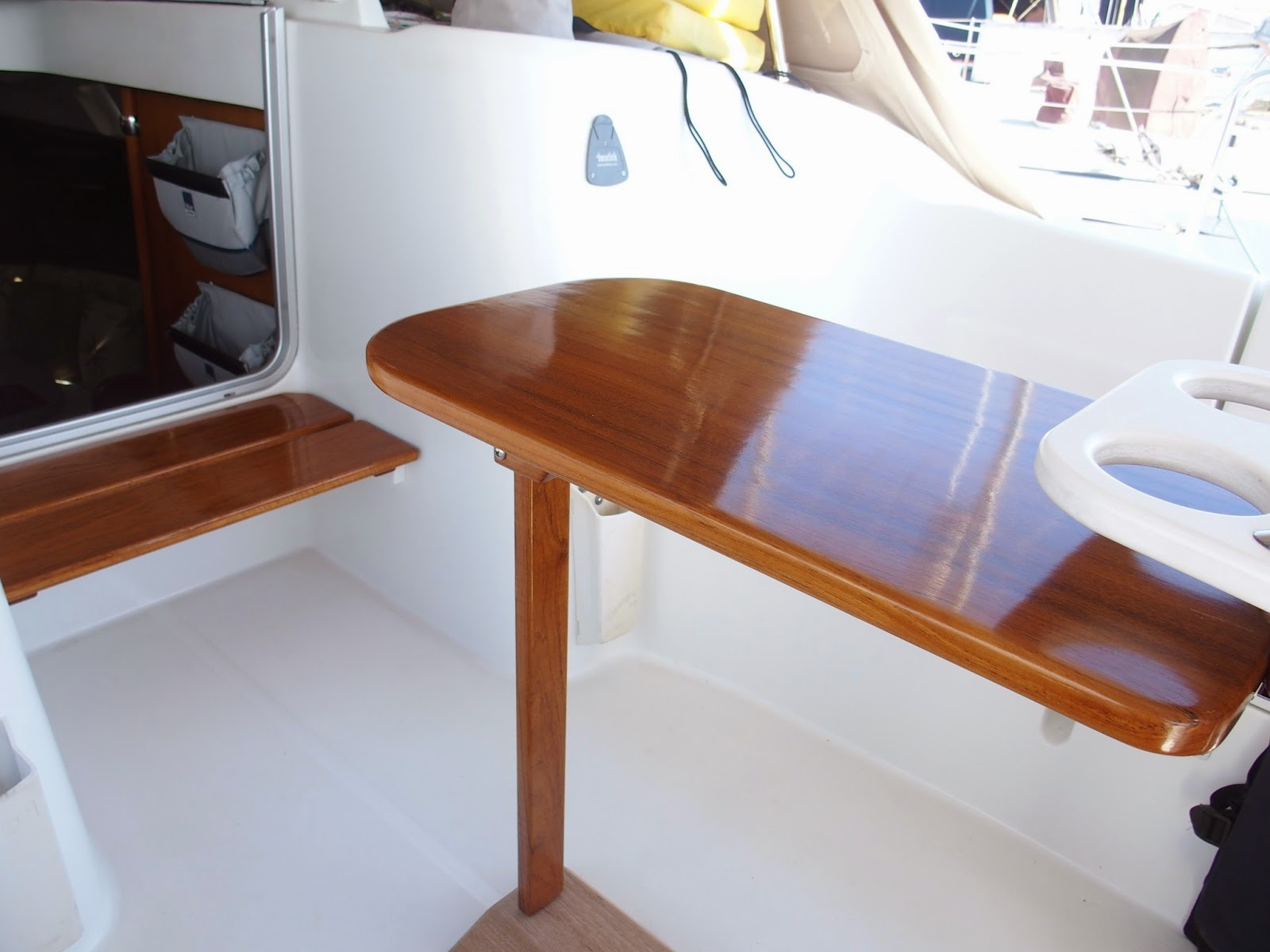 Cruising boat designs the cockpit table for To the table