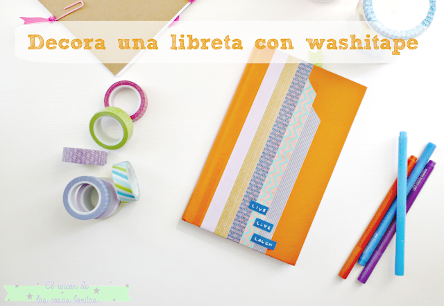 libreta decorada washitape