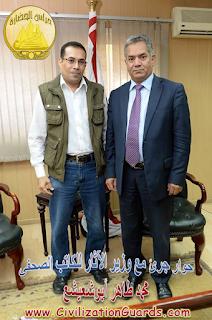حوار وزير الآثار مع الكاتب الصحفى محمد طاهر أبوشعيشع