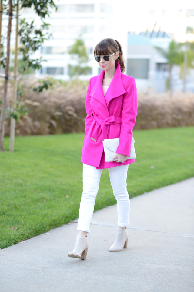ted baker coat and white jeans M Loves M @marmar