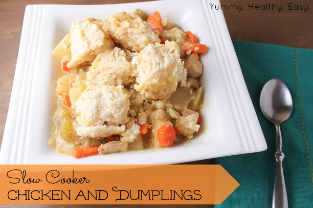 Slow Cooker Chicken and Dumplings | Yummy Healthy Easy