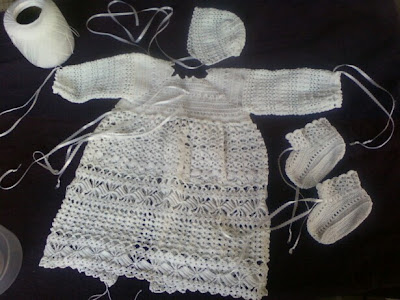 Crochet Christening Gown - video 3 - YouTube