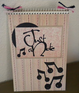 Cricut, Lyrical Letters, Altered Notebook