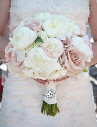 Pale pink, vintage-inspired wedding bouquets!   Erin Volante Floral