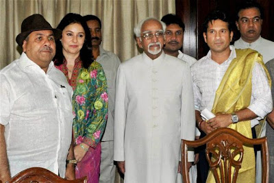 Sachin takes oath