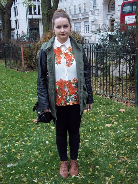 river island bad necklace primark floral shirt kardashian kollection bag parka
