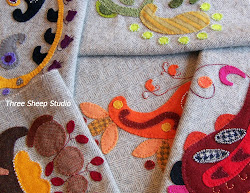 Paisley Wool Applique...