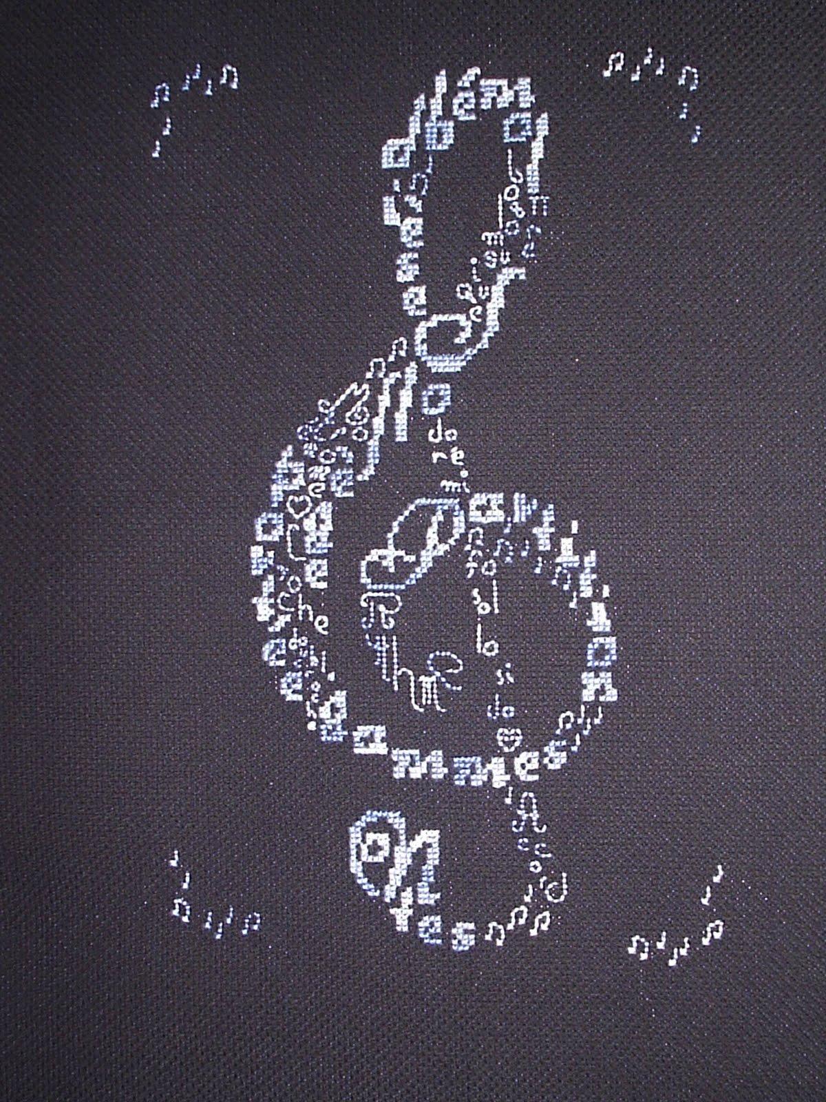 Схемы вышивок на музыкальную тему