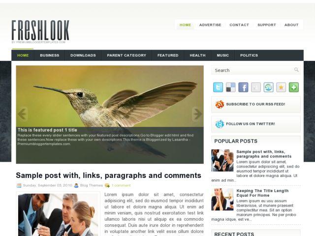 FreshLook Blogger Template