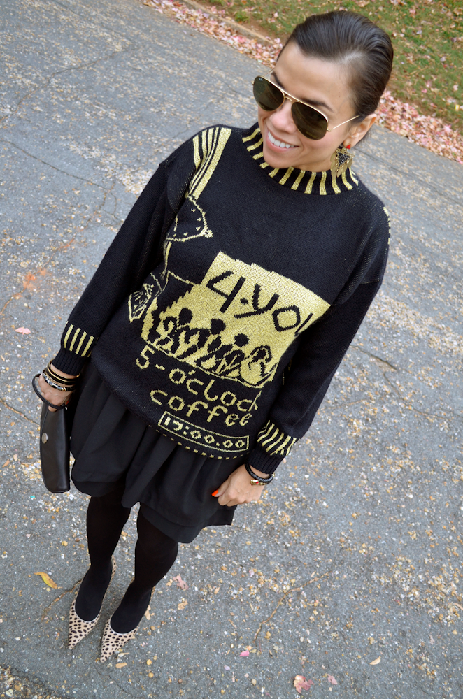 Graphic Sweater Outfit