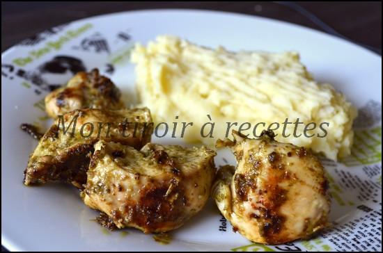 poulet pesto
