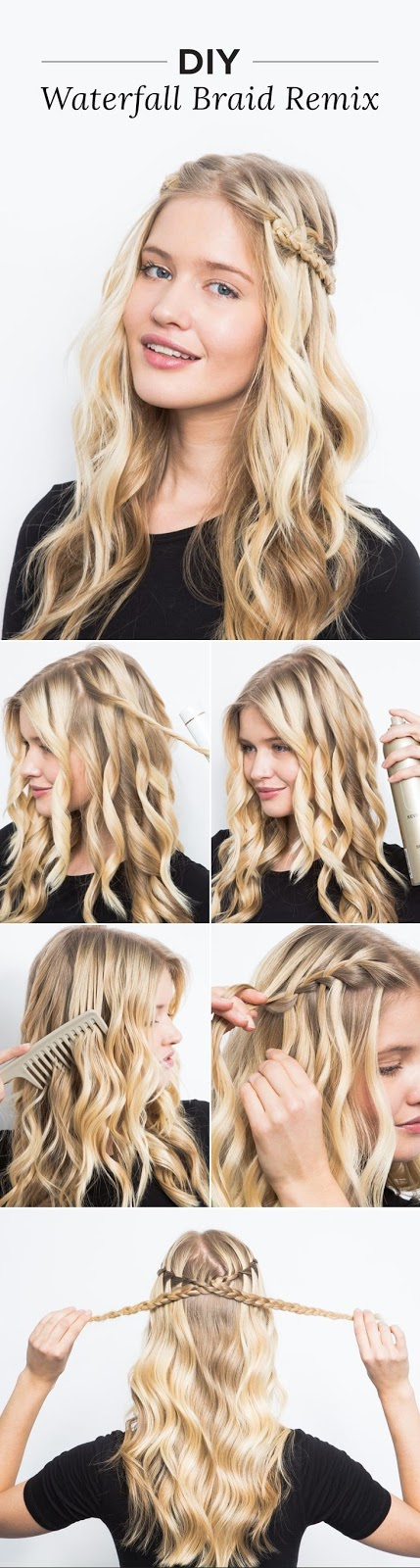 DIY Waterfall Braid Remix | The waterfall braid looks way more complicated than it actually is! Try our easy tutorial to get this dreamy, wavy hairstyle in just a few simple steps.