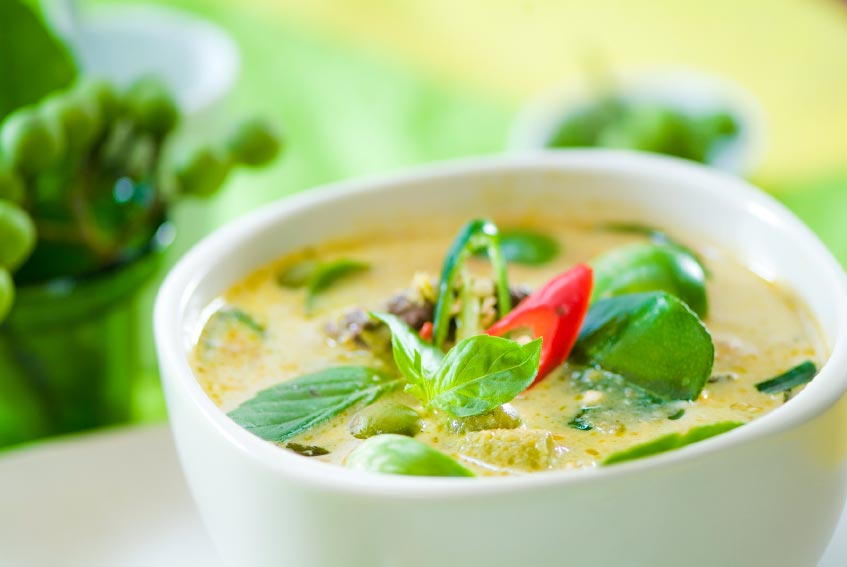 cubes thai green curry with tofu or not coconut green curry mussels ...