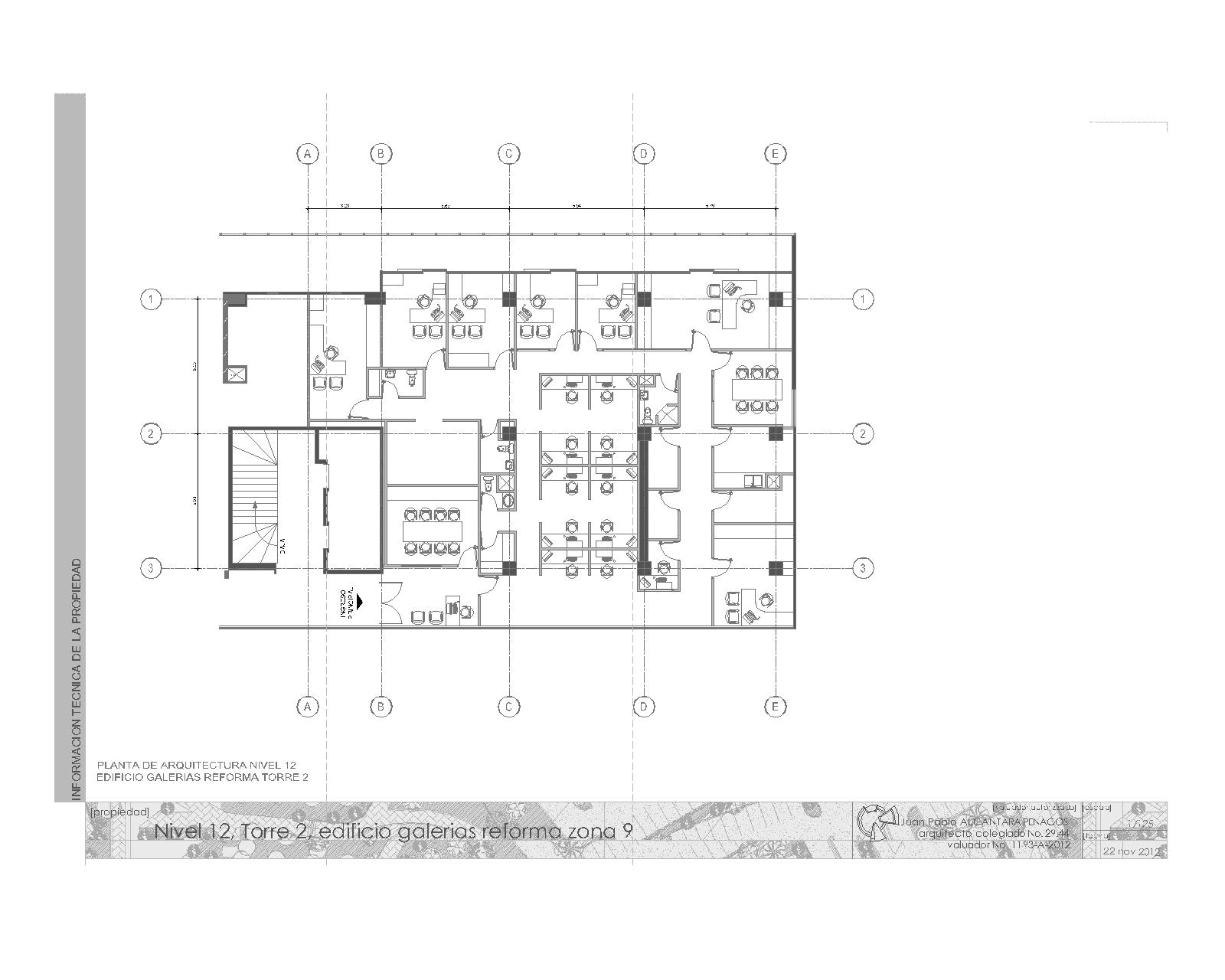 Pablo alc ntara penagos urbanismo y arquitectura for Plantas de oficinas arquitectura