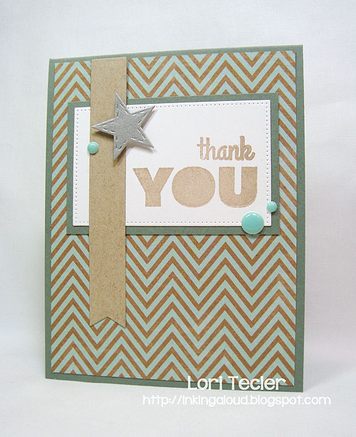 Thank You card-designed by Lori Tecler/Inking Aloud-stamps and dies from My Favorite Things