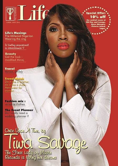 Tiwa Savage - Guardian Life Magazine