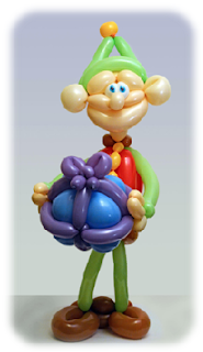 Christmas Elf Balloon Art by Rob Driscoll
