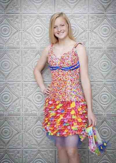 dress made of starburst