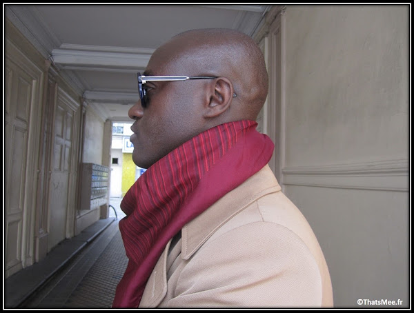 Harvey agence Kisu PR , Dedicate Magazine foulard rouge smalto homme