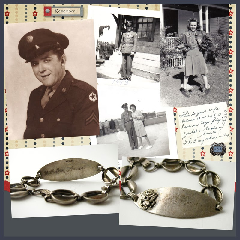 Heritage Scrapbook Page Military