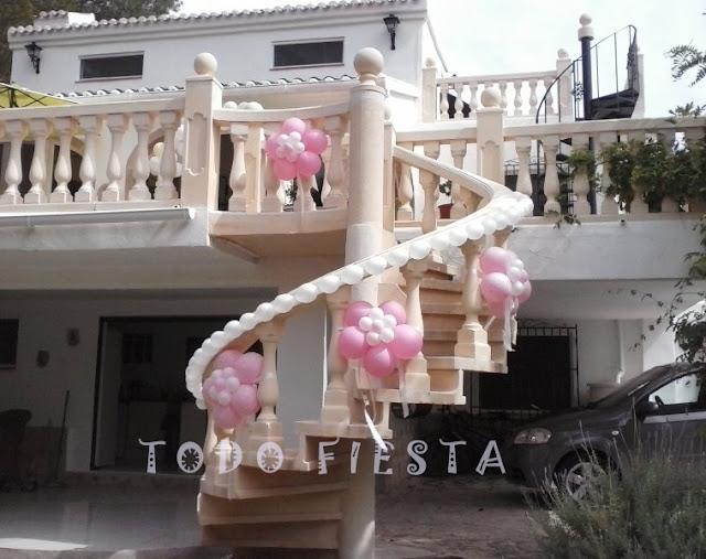 Decoraci n con globos de todo fiesta - Salones con escaleras ...