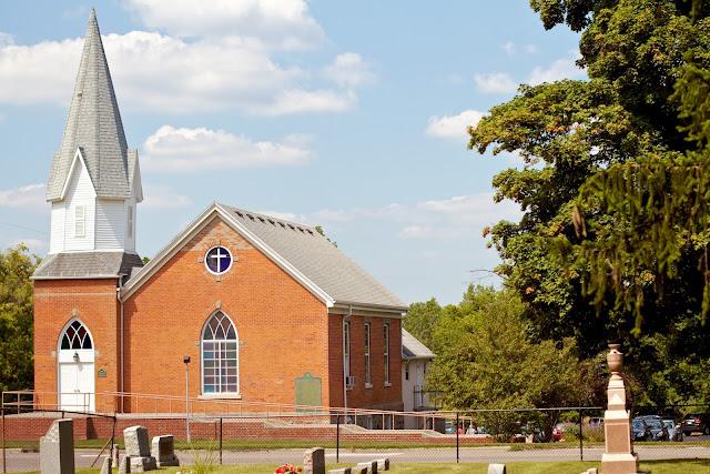 Church. Gunnisonville Cemetery Tour, Lansing Michigan. photo by Tammy Sue Allen.