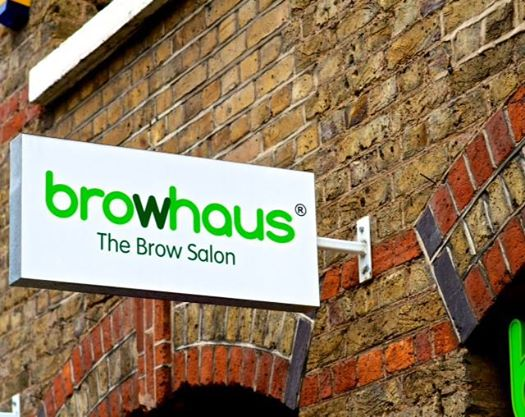 Browhaus brow salon sign
