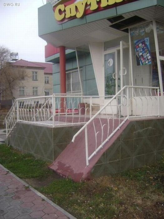 Architecture fail - Wheelchair Ramp Fail