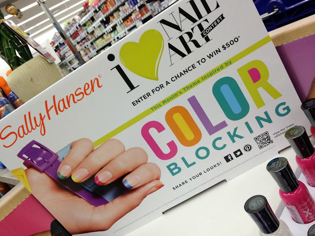 Sally Hansen Color Block nail art display at Walgreens #IHeartMyNailArt #cbias