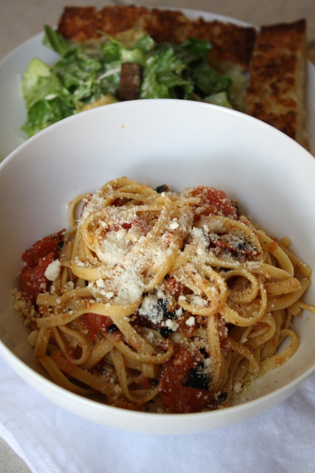 grilled tomato linguine... 45 minutes
