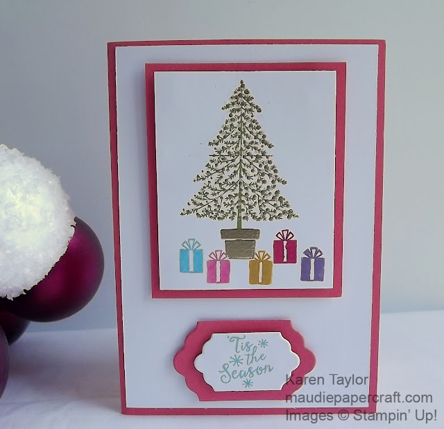 Stampin' Up! Peaceful Pines Christmas card