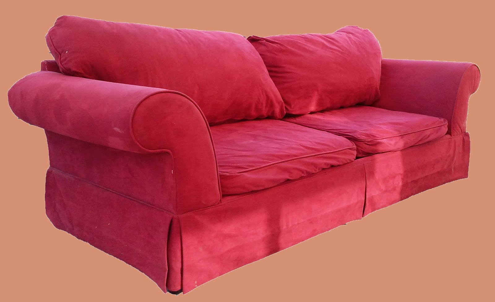 Uhuru Furniture Collectibles Red Microfiber Sofa 175 Sold