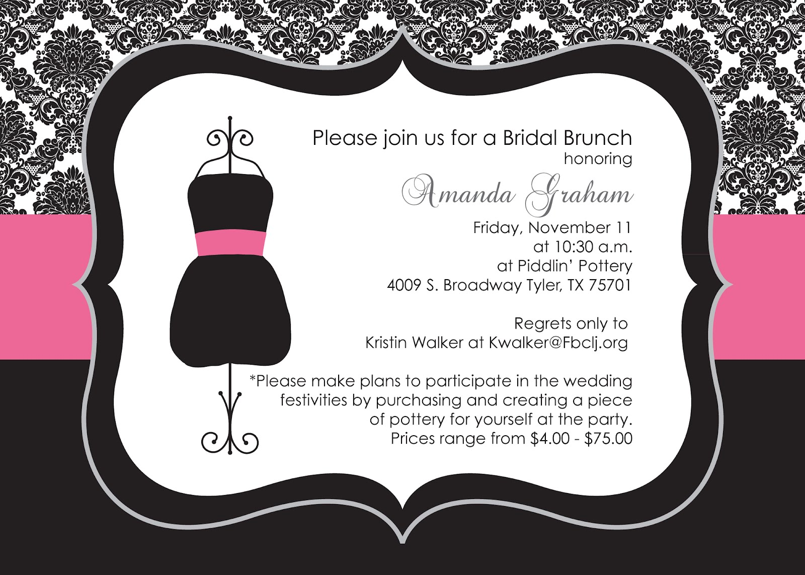 Custom Party: Little Black Dress Bridal Brunch