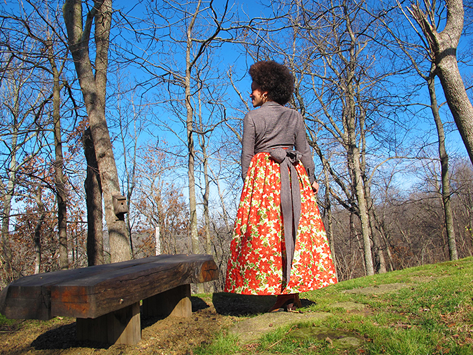 oonaballoona | Gathered Maxi Skirt | BWOF Nov 93 Wrap Shirt